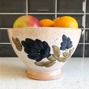 Handmade Pottery Floral Fluted Bowl Planter